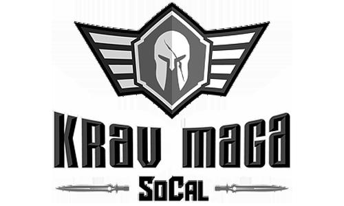 SoCal Krav Maga Black and White Fitness Program Logos